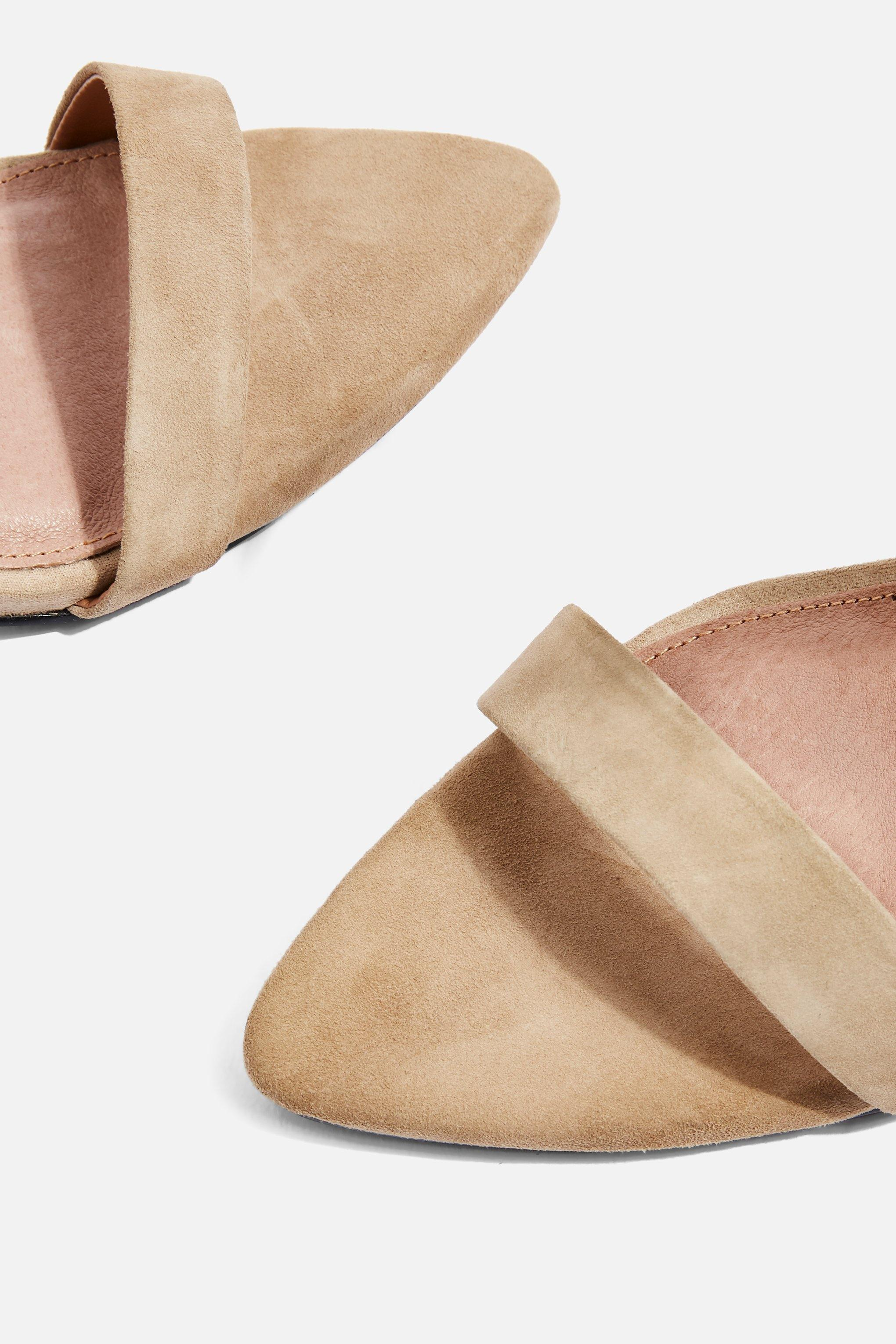 89be658c323 Lyst - TOPSHOP Rubix Two Part Pointed Sandals in Natural