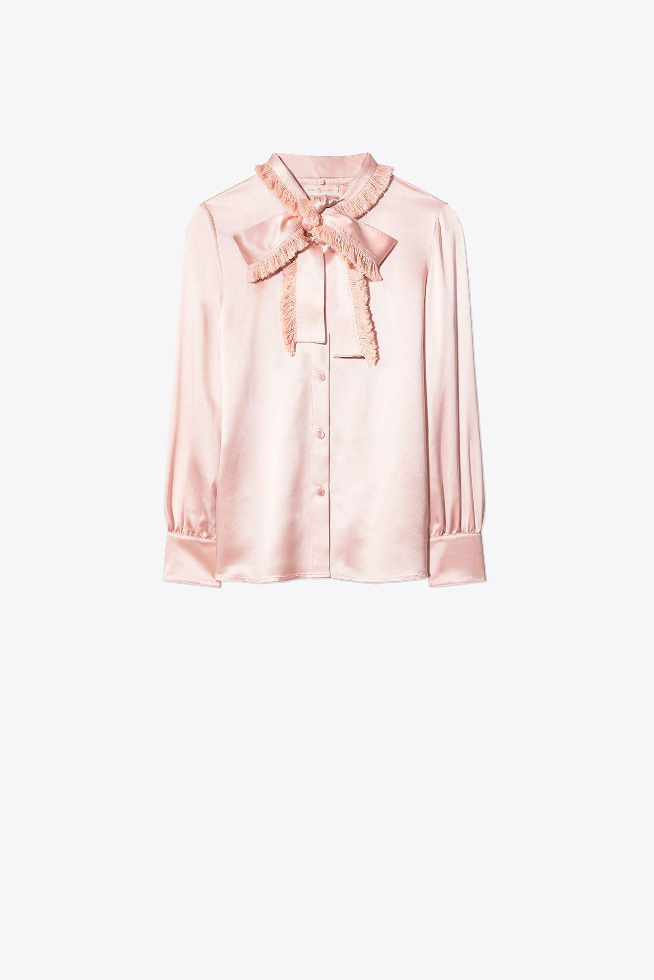 386638d3d81 Tory Burch - Pink Fringe Bow Blouse - Lyst. View fullscreen