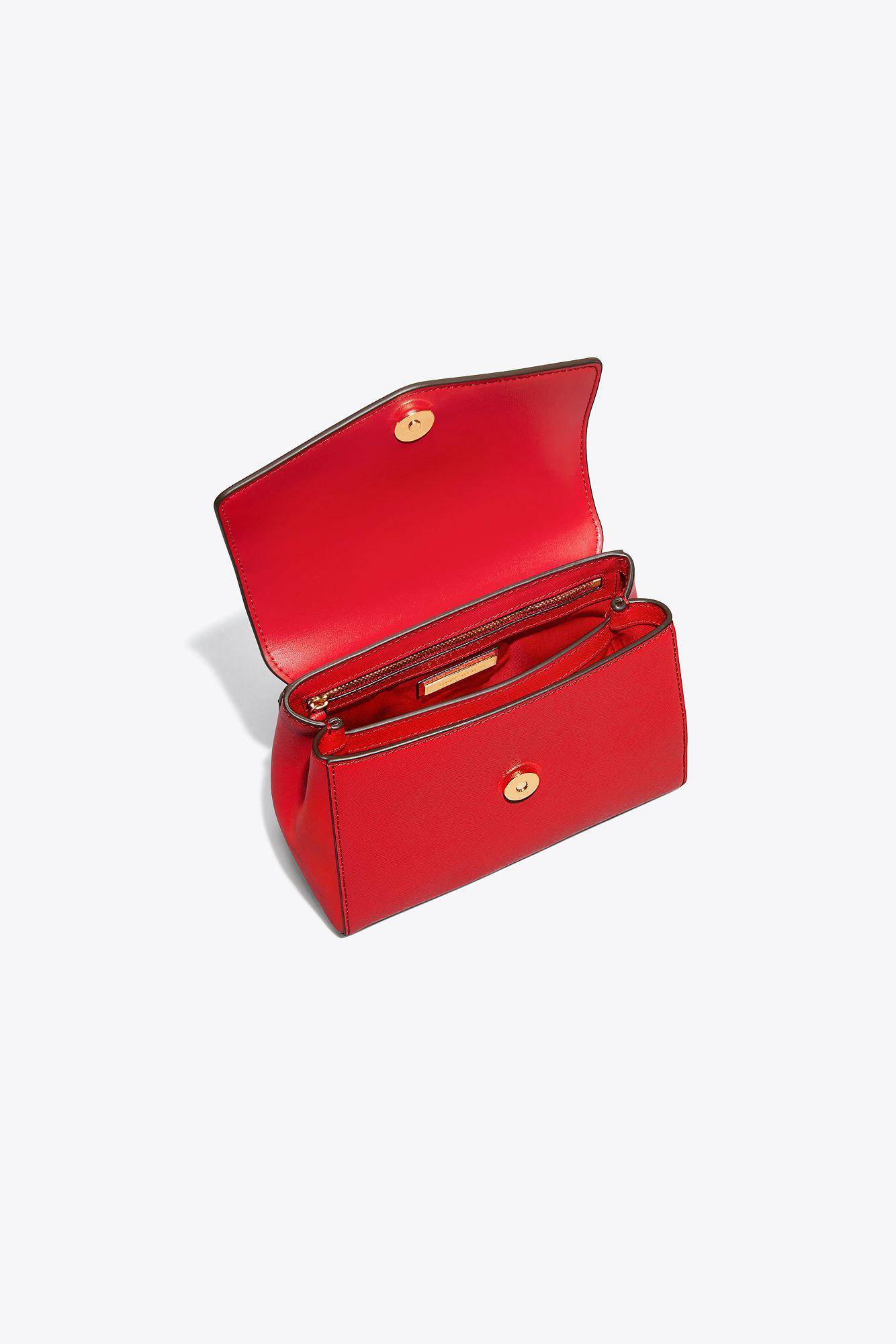 dfcb2a28af0a Tory Burch - Red Robinson Small Top-handle Satchel - Lyst. View fullscreen