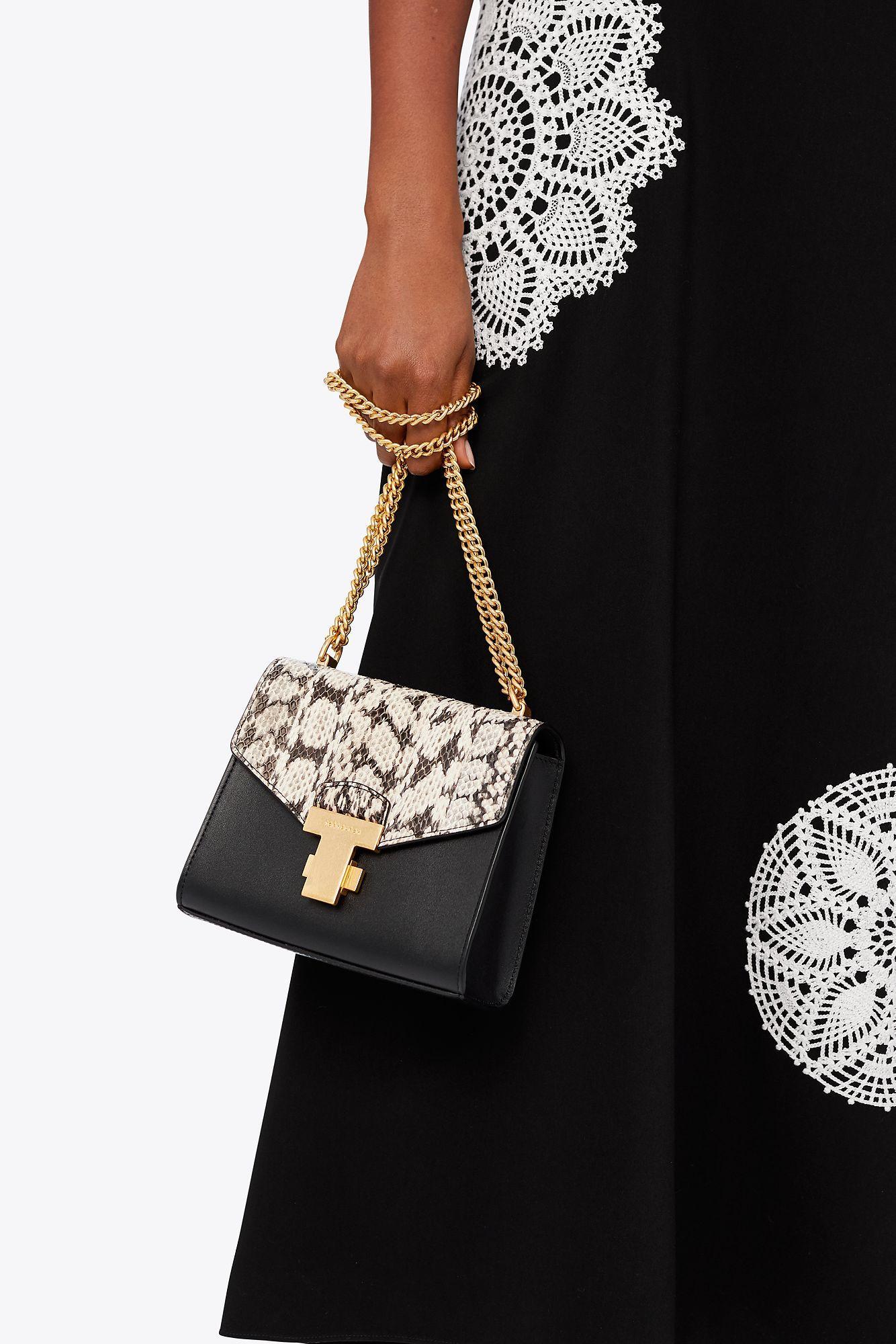 b34a5628c837f Tory Burch - Black Juliette Exotic Chain Mini Bag