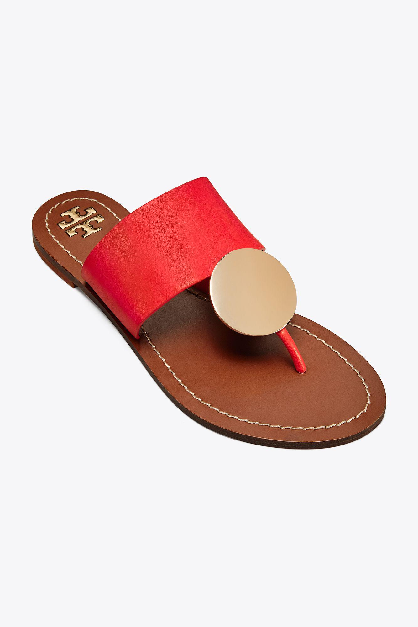 17d0486a8f46d6 Tory Burch Patos Disk Sandal in Red - Lyst