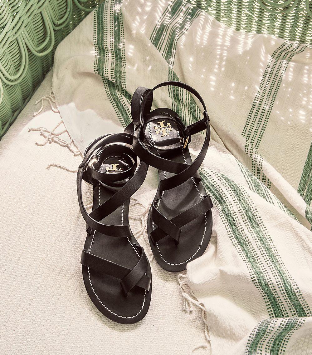 48d69f4e70d Lyst - Tory Burch Patos Sandal in Black