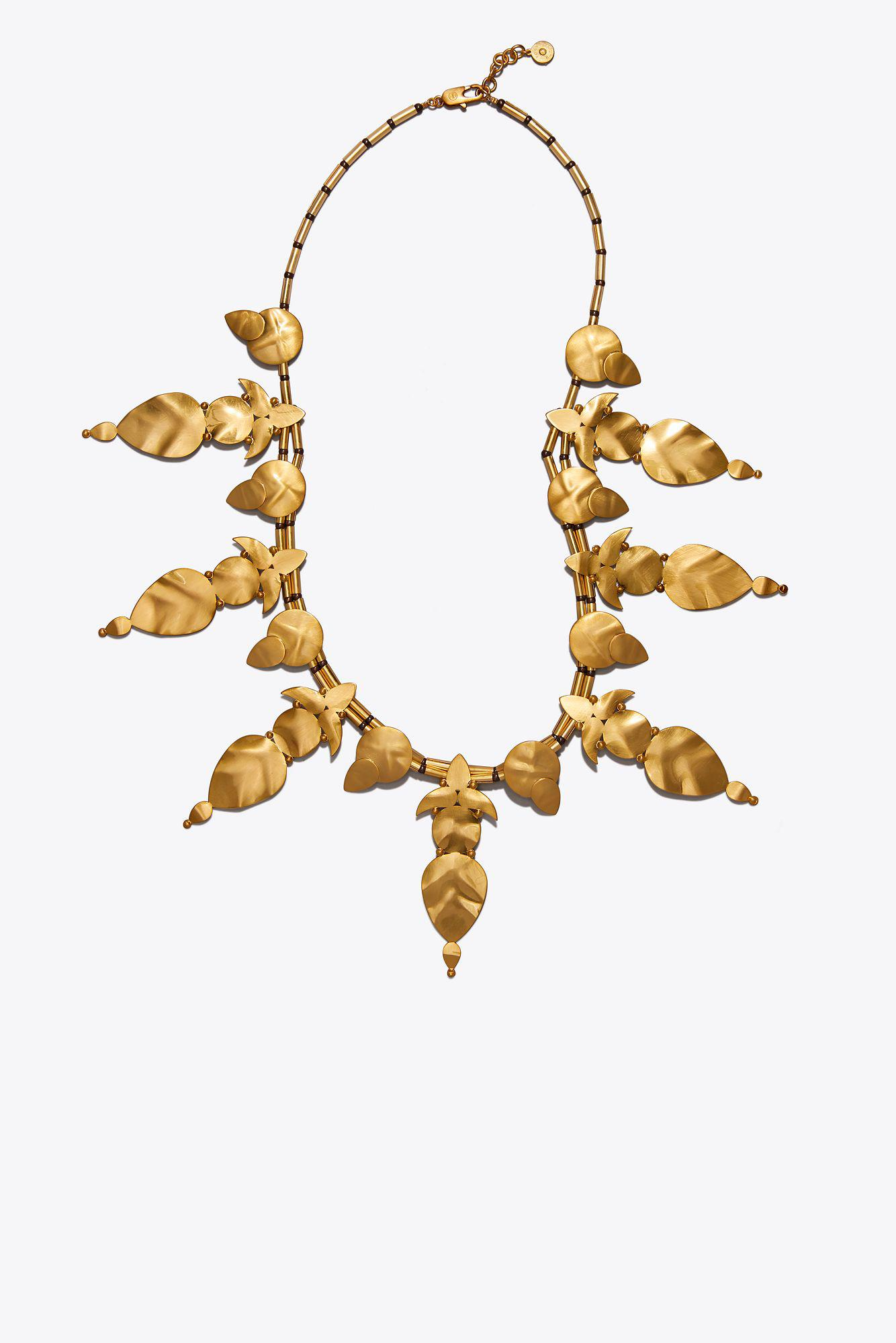 Tory Burch Willow Leaf Long Necklace hnmFkBHN