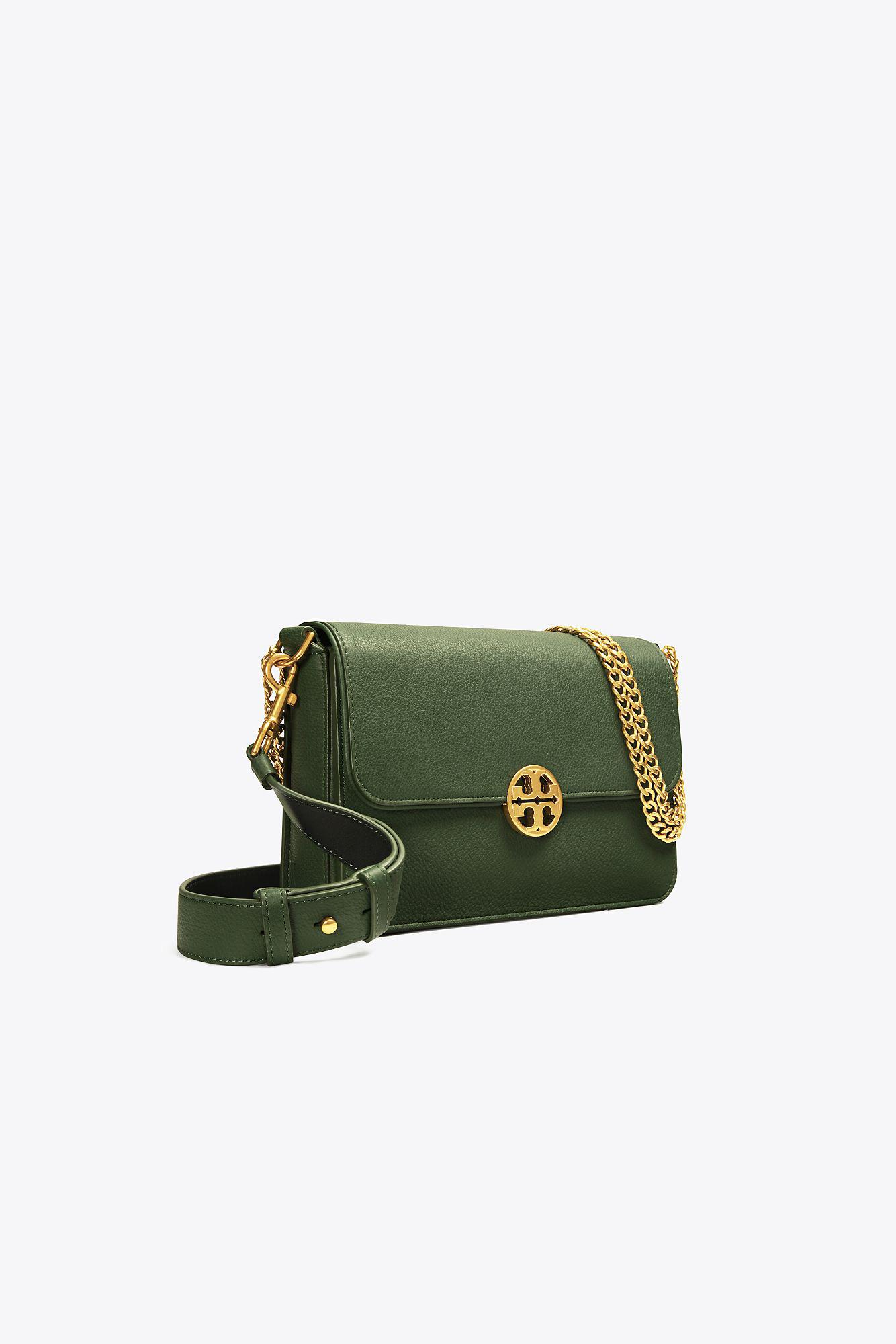 e37d240a442 Lyst - Tory Burch Chelsea Shoulder Bag in Green