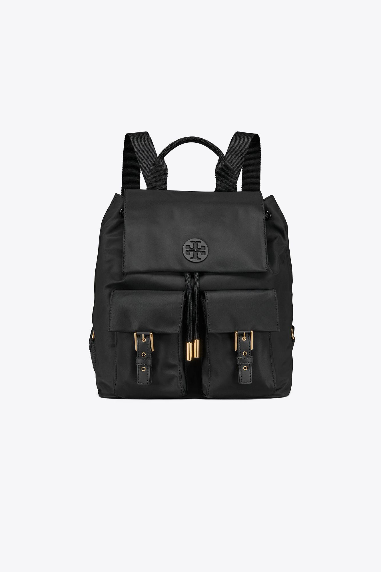 f16d4dd063f3 Tory Burch Tilda Nylon Flap Backpack in Black - Lyst