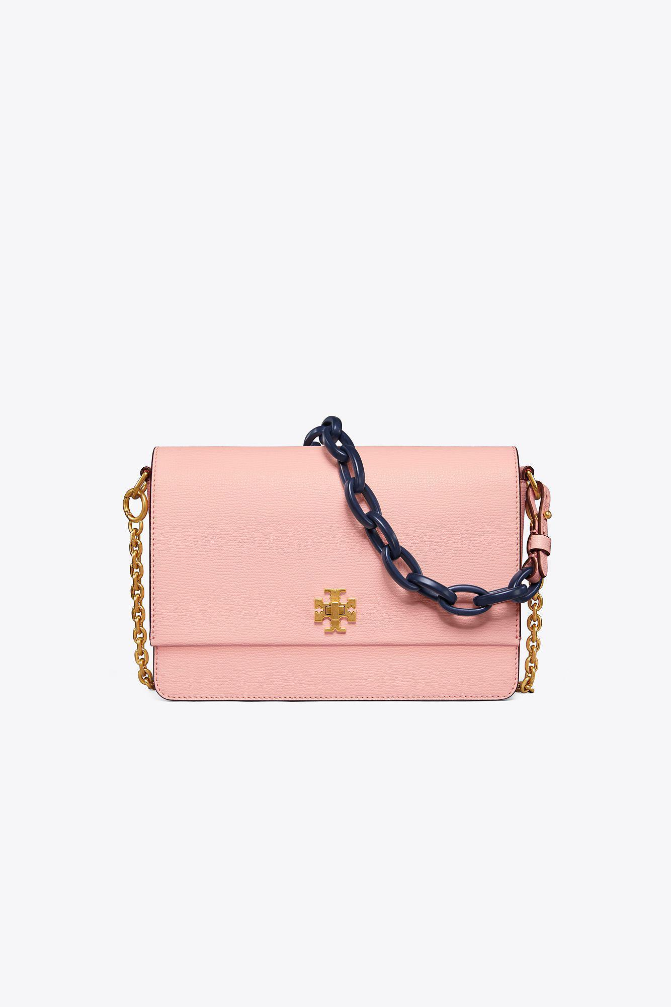 e75f3bb11de5 Tory Burch Kira Double-strap Shoulder Bag in Pink - Lyst