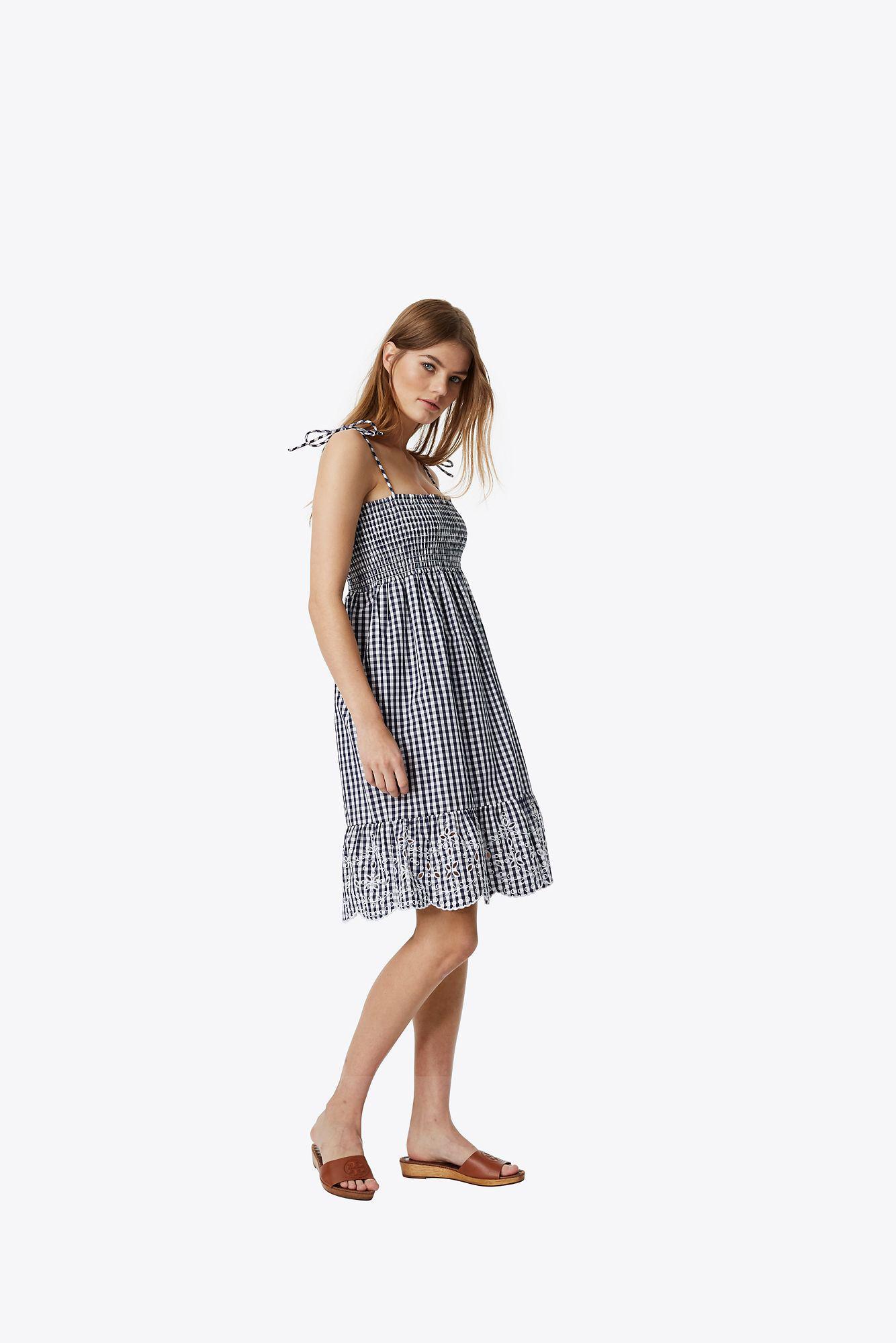00decd8c5b578 Tory Burch Convertible Gingham Beach Dress in Blue - Lyst