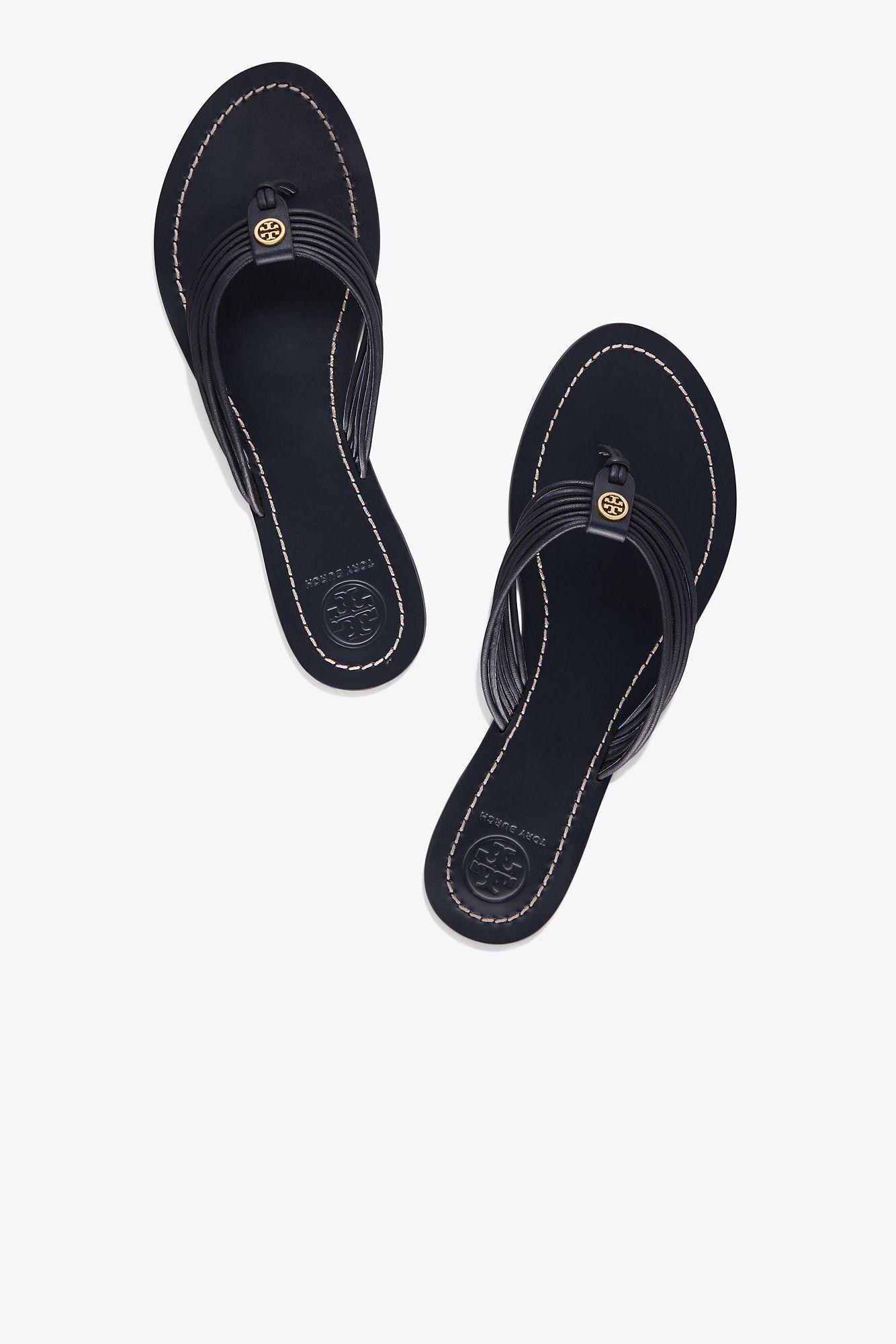 0be3e012a7b3 Lyst - Tory Burch Sienna Flat Thong Sandal in Blue