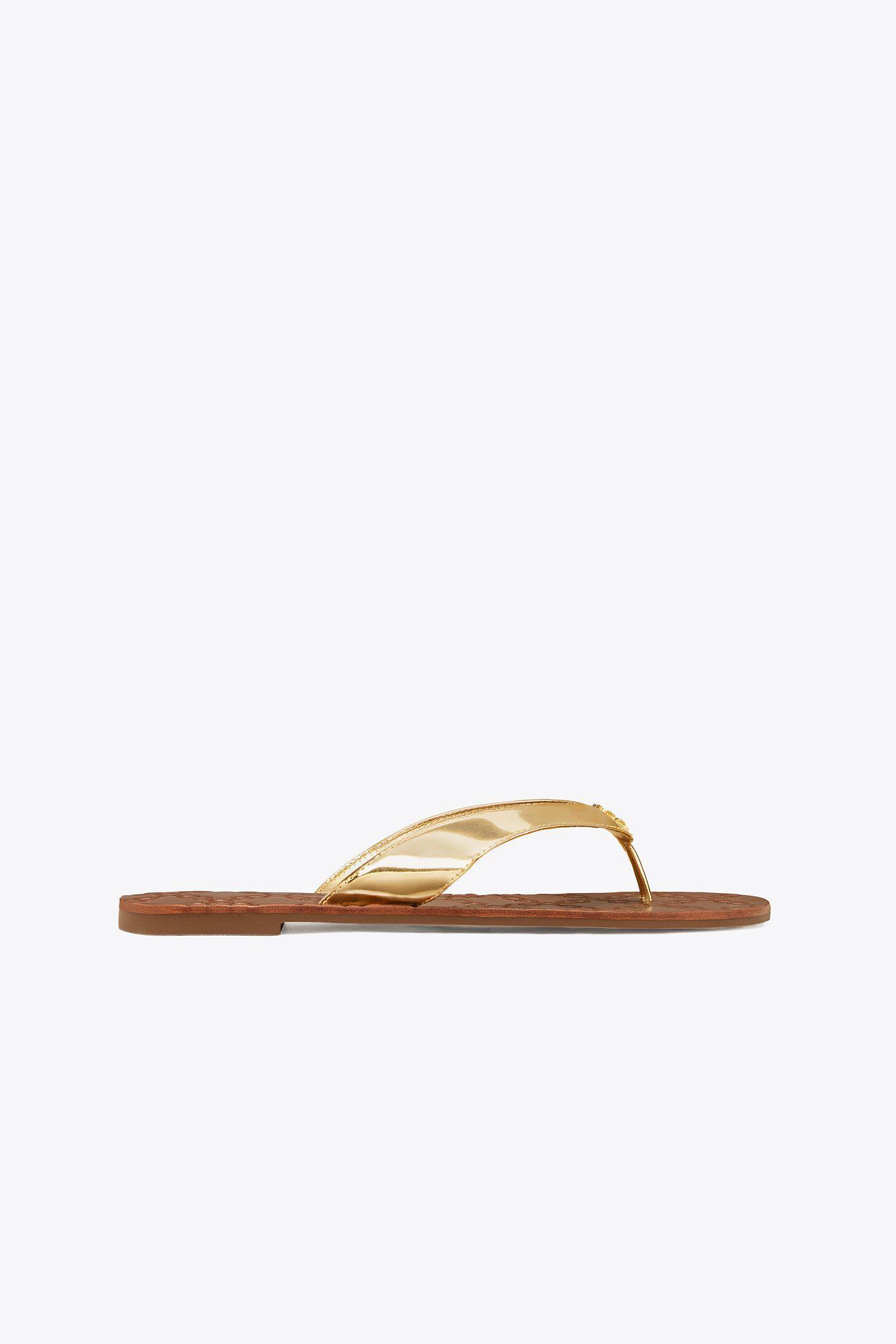 5fc4de3e2936 Lyst - Tory Burch Monroe Metallic Thong Sandal in Metallic