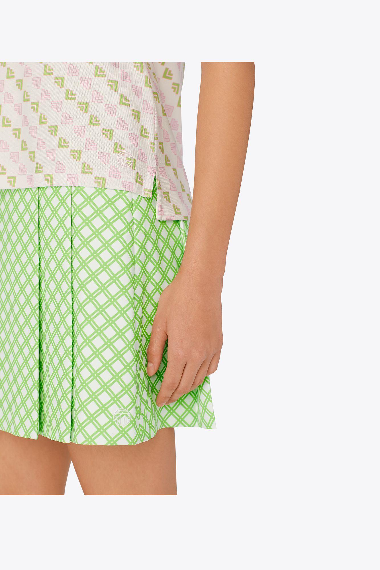 5d7fc40712 Tory Sport - Green Printed Tech Twill Pleated Golf Skirt | 377 | Sport  Performance Skirts. View fullscreen