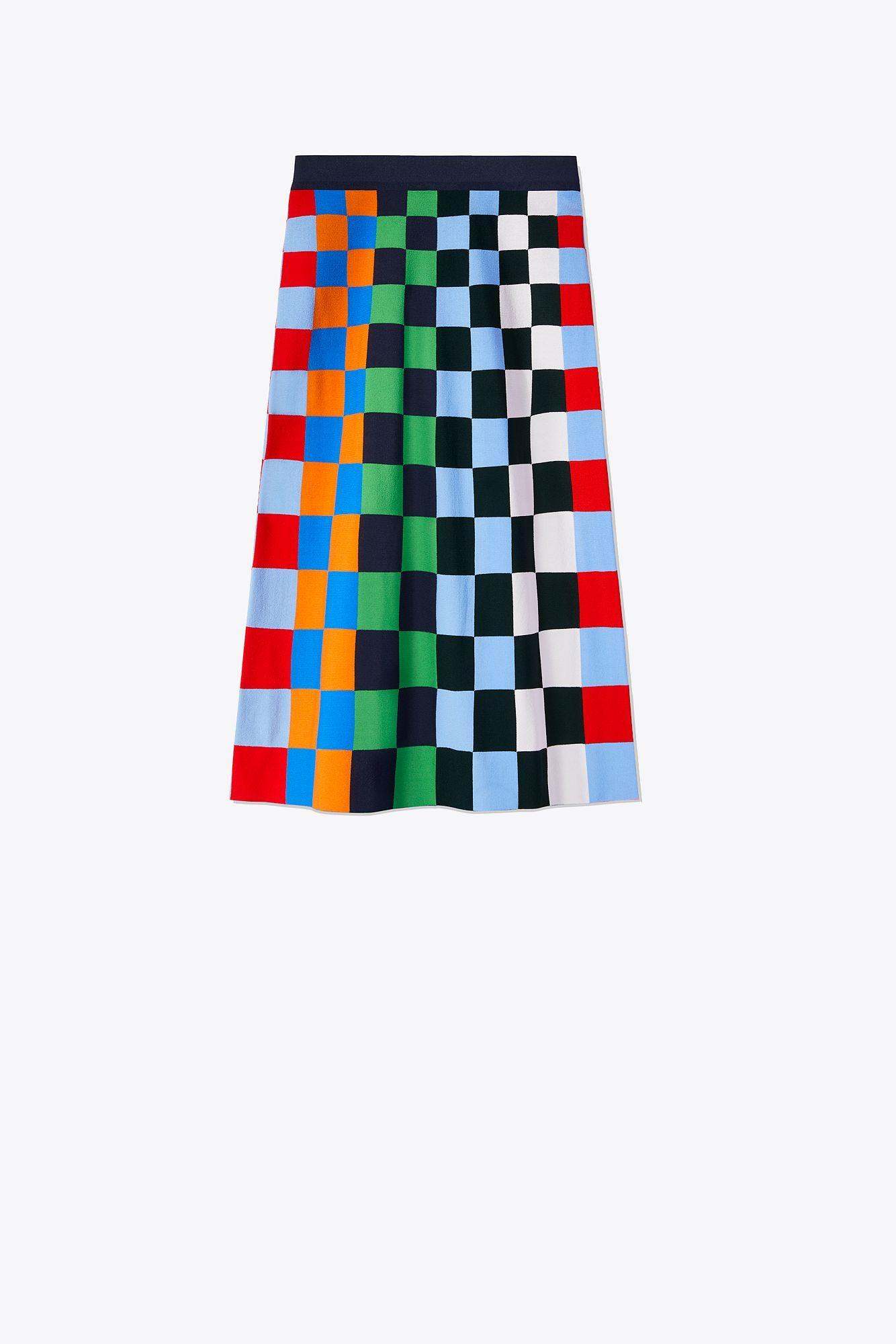 3dcdbd5e4219 Lyst - Tory Sport Tech-knit Check Skirt