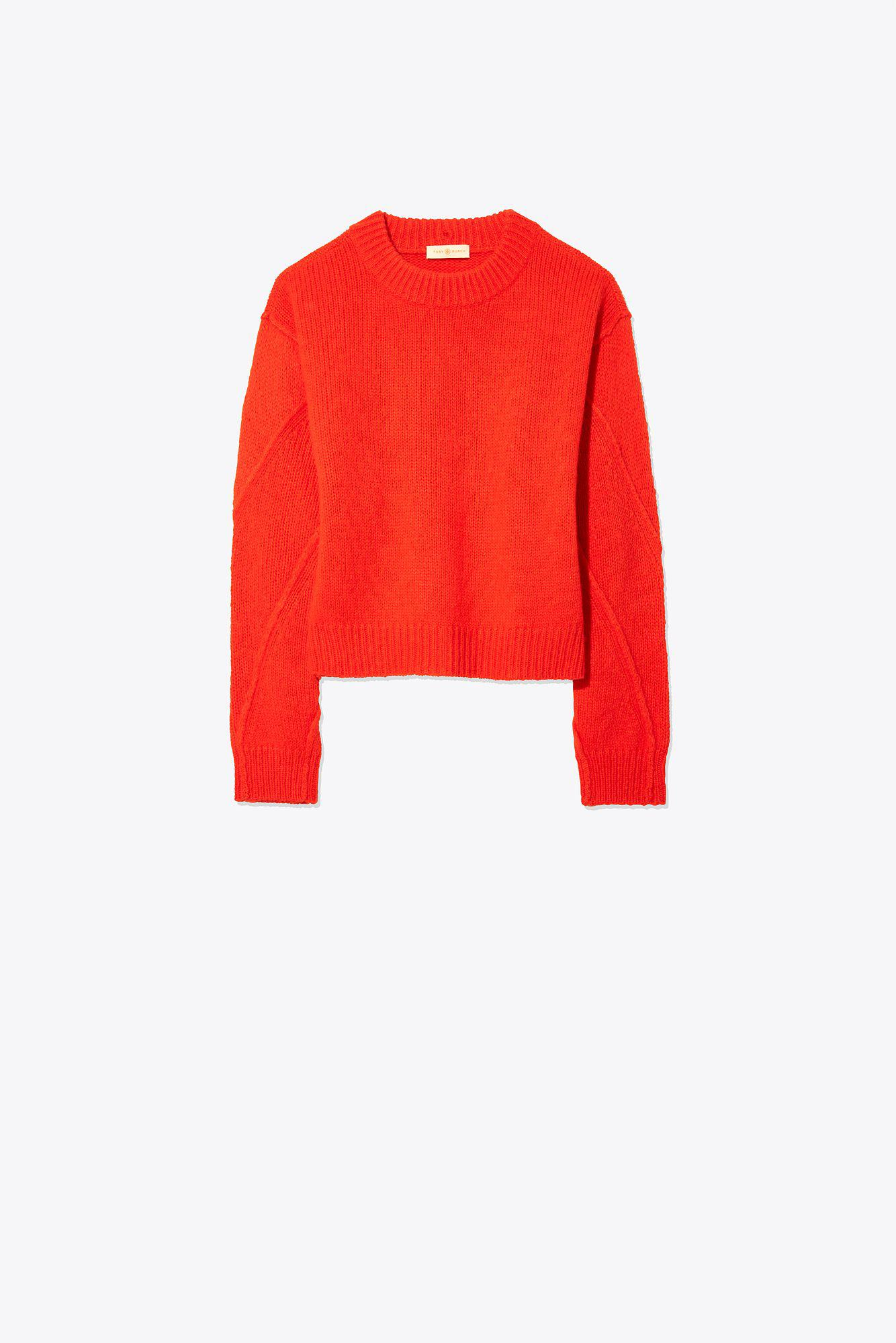 7297ef8e1b Tory Burch Eva Convertible Sweater in Red - Lyst