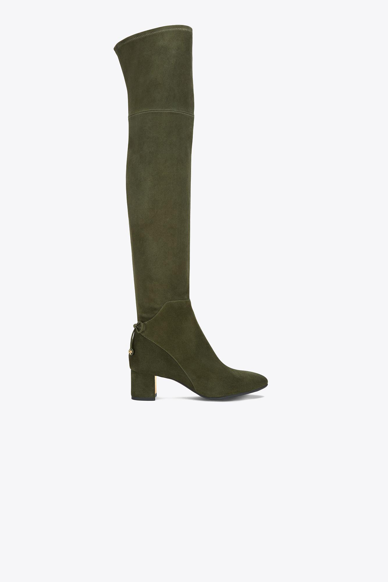 bbf5b76dfcb9ca Tory Burch Laila Suede Over-the-knee Boot in Green - Lyst