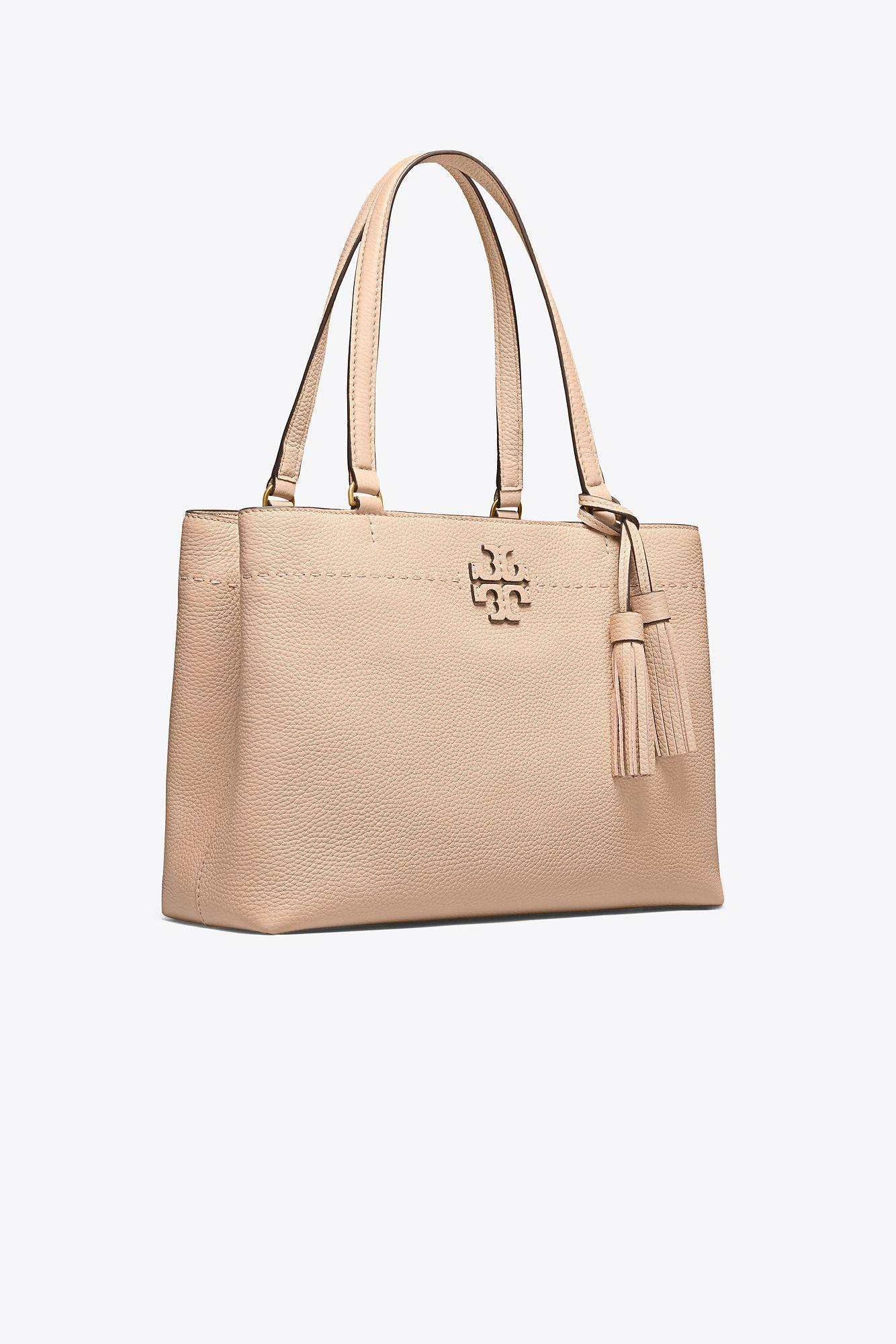 ffea55dc51c4 Tory Burch - Natural Mcgraw Triple-compartment Tote - Lyst. View fullscreen