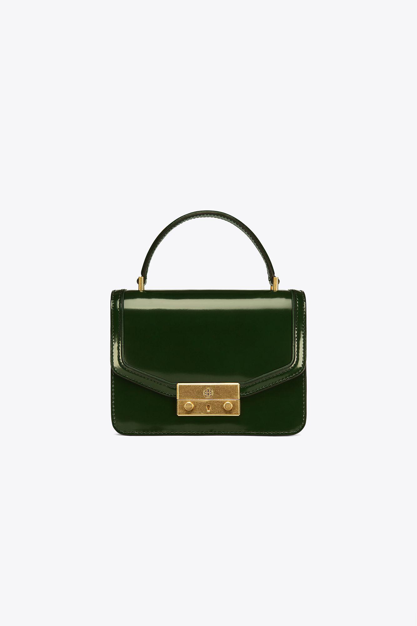 db0d1589ec61 Lyst - Tory Burch Juliette Mini Top-handle Satchel in Green