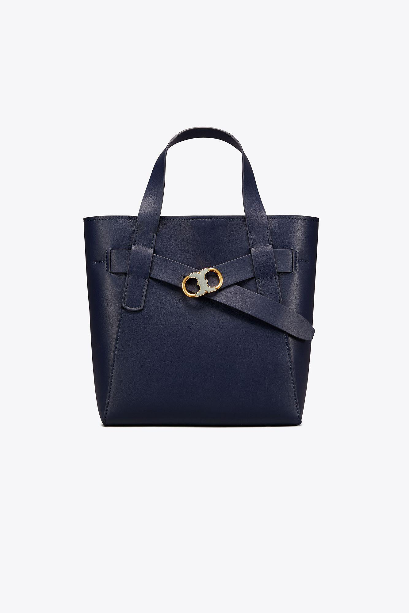 5cc21fe34dcc Lyst - Tory Burch Gemini Link Leather Small Tote in Blue