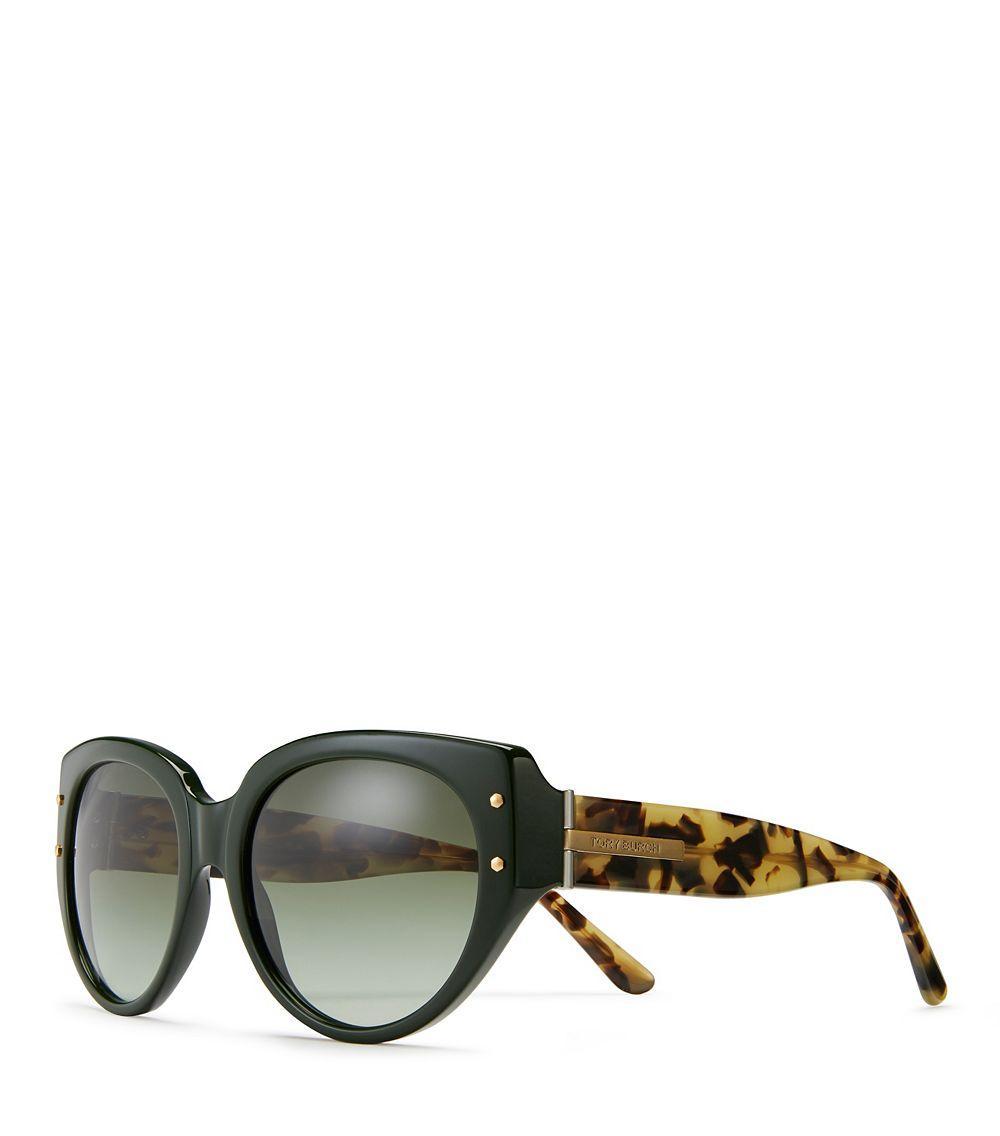 Tory Burch Black Cat Eye Sunglasses