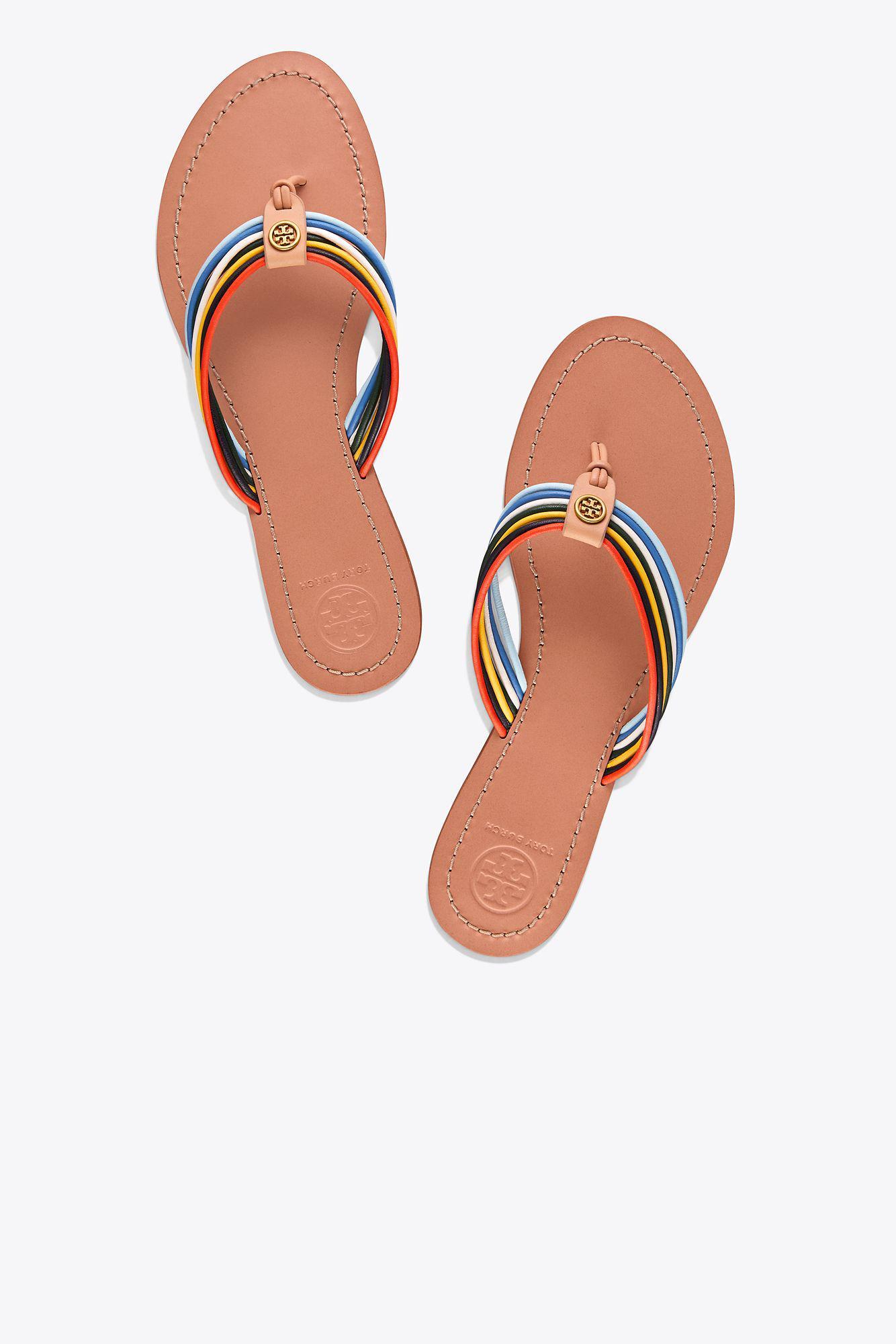 d06e79f3ef04 Lyst - Tory Burch Sienna Flat Thong Sandal