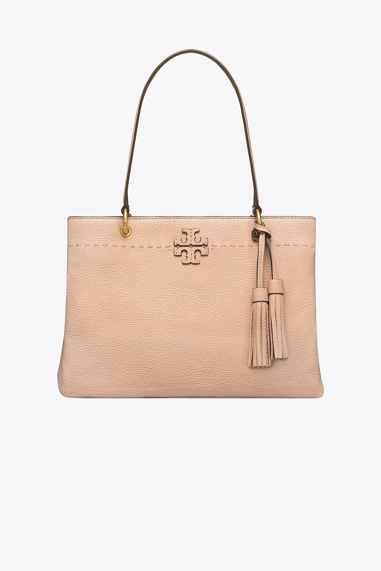 cc191f3b1aeb Lyst - Tory Burch Mcgraw Triple-compartment Ring Tote in Natural