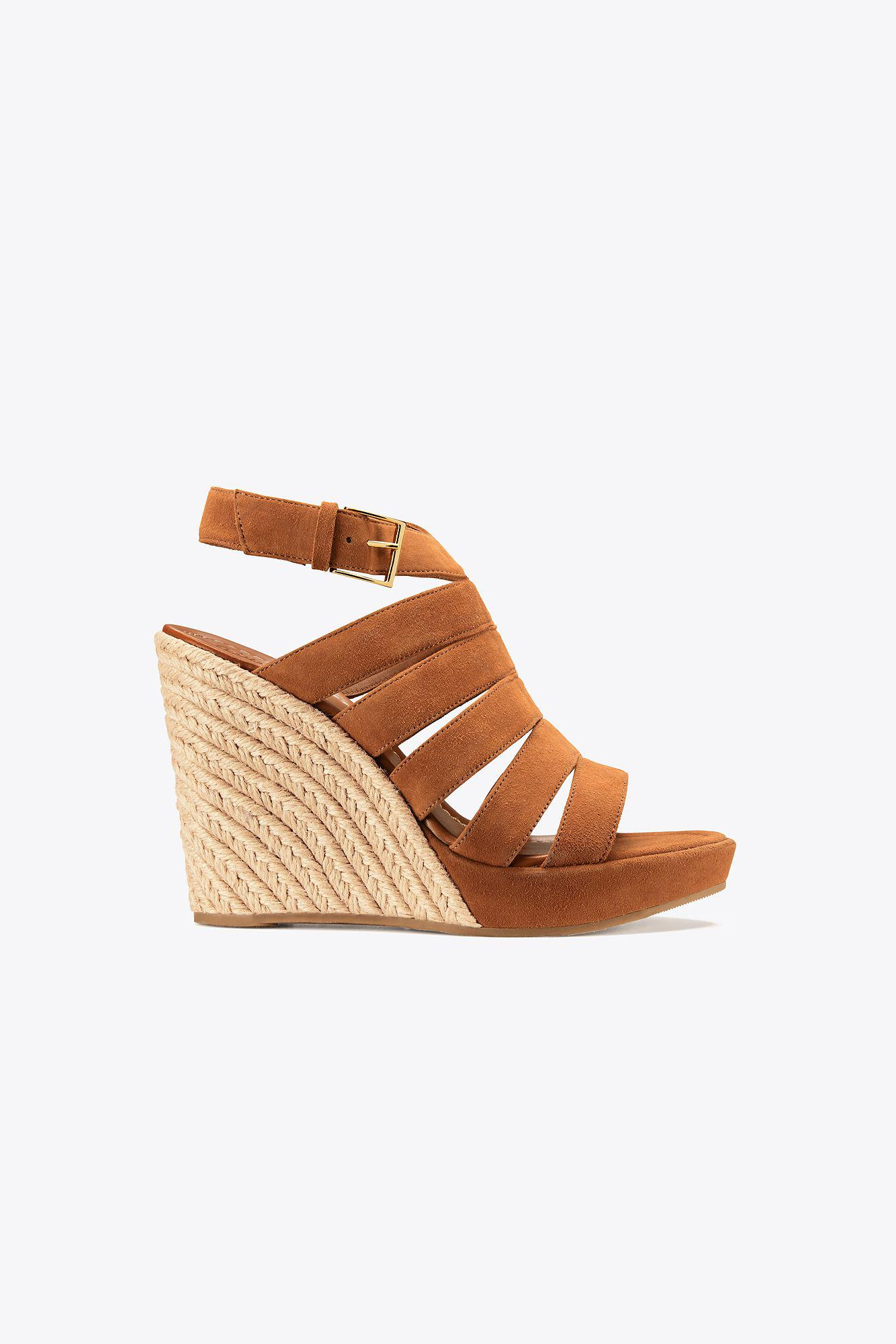 94bc307e26732 Tory Burch Bailey Multi-strap Wedge Espadrille in Brown - Lyst
