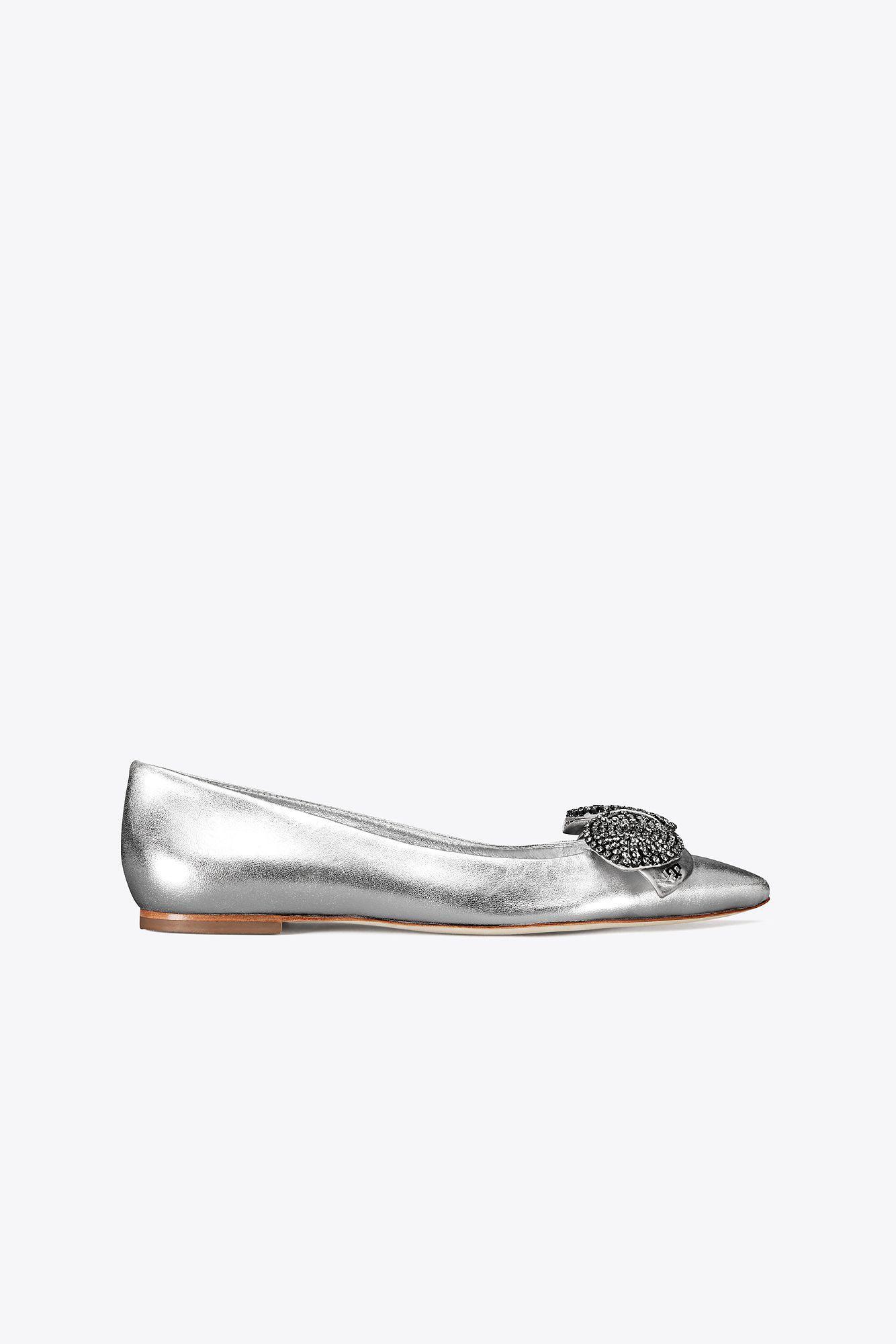 723cfe9b0735 Lyst - Tory Burch Rosalind Embellished Ballet Flat