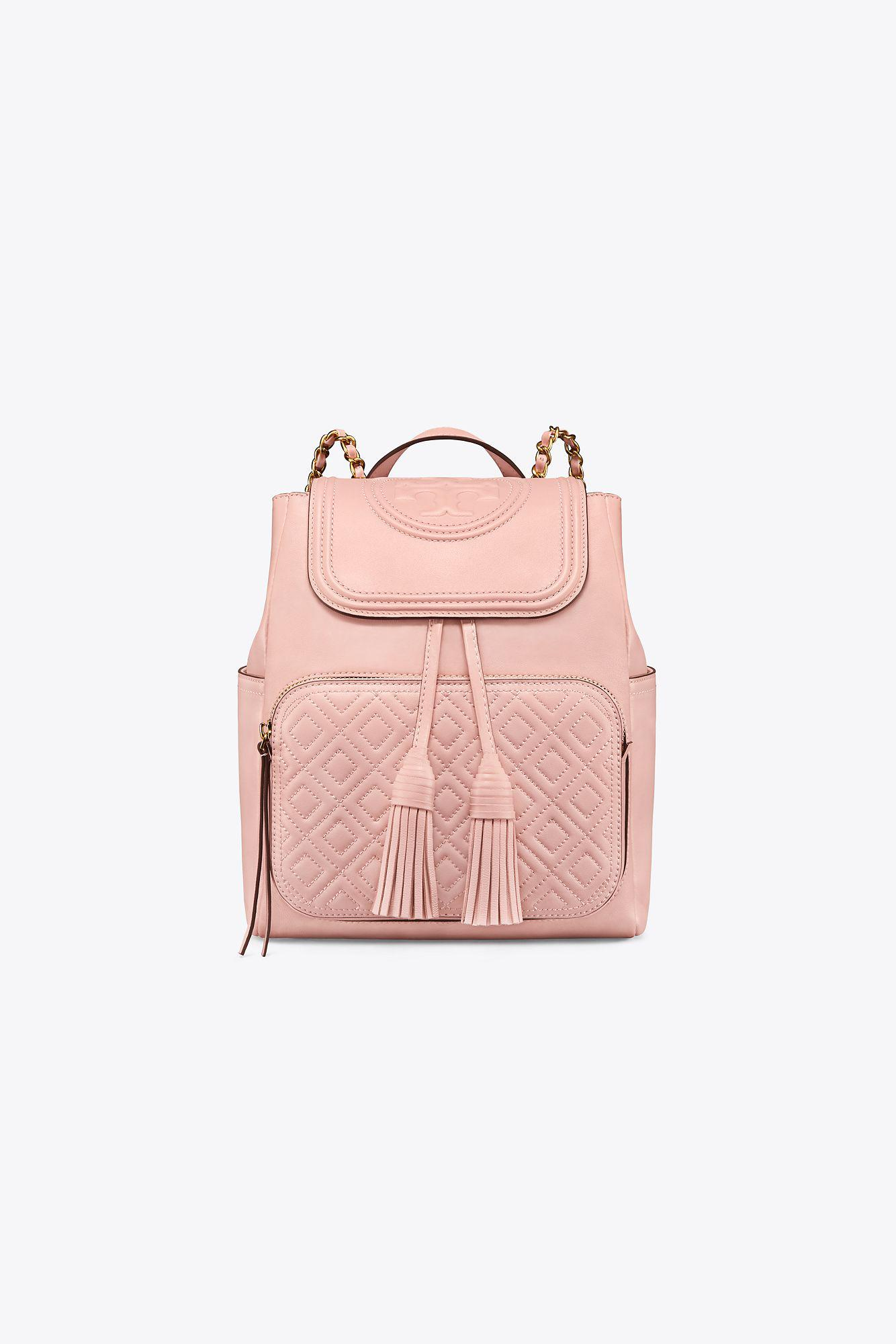 abbb4af6b3ee Lyst - Tory Burch Fleming Backpack in Pink - Save 35%