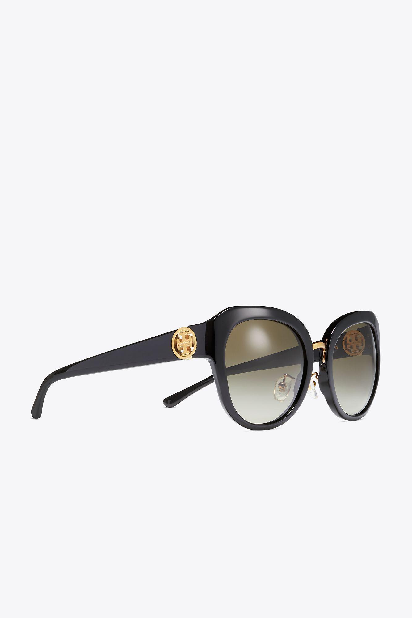 6614e1b6ff38 Lyst - Tory Burch 3 Piece Logo Irregular | 212 | Sunglasses in Black