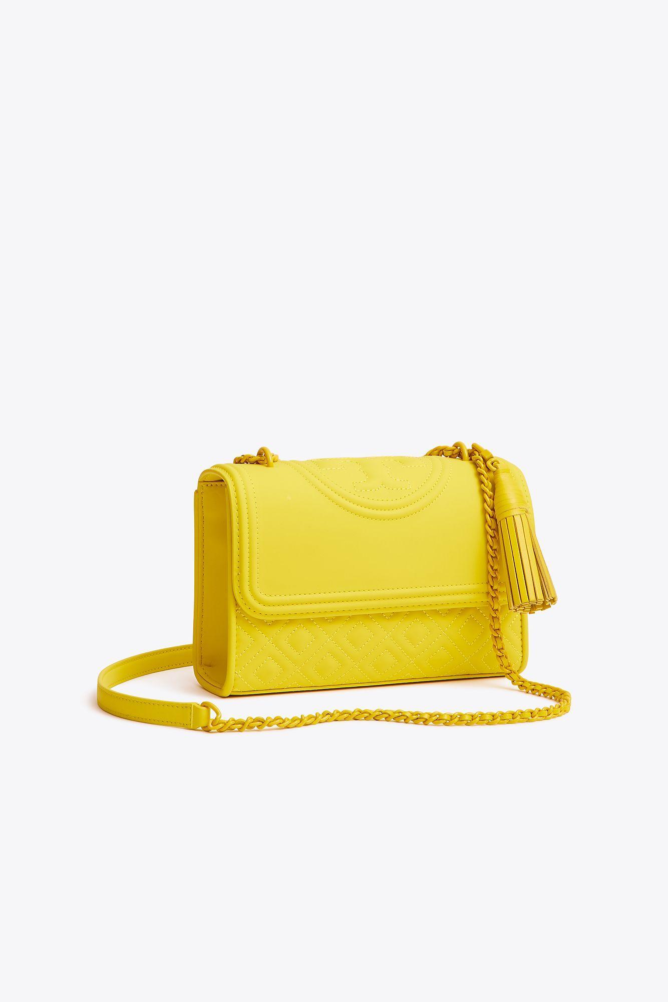 9526dd2fa9d1 Tory Burch. Women s Yellow Fleming Matte Small Convertible Shoulder Bag