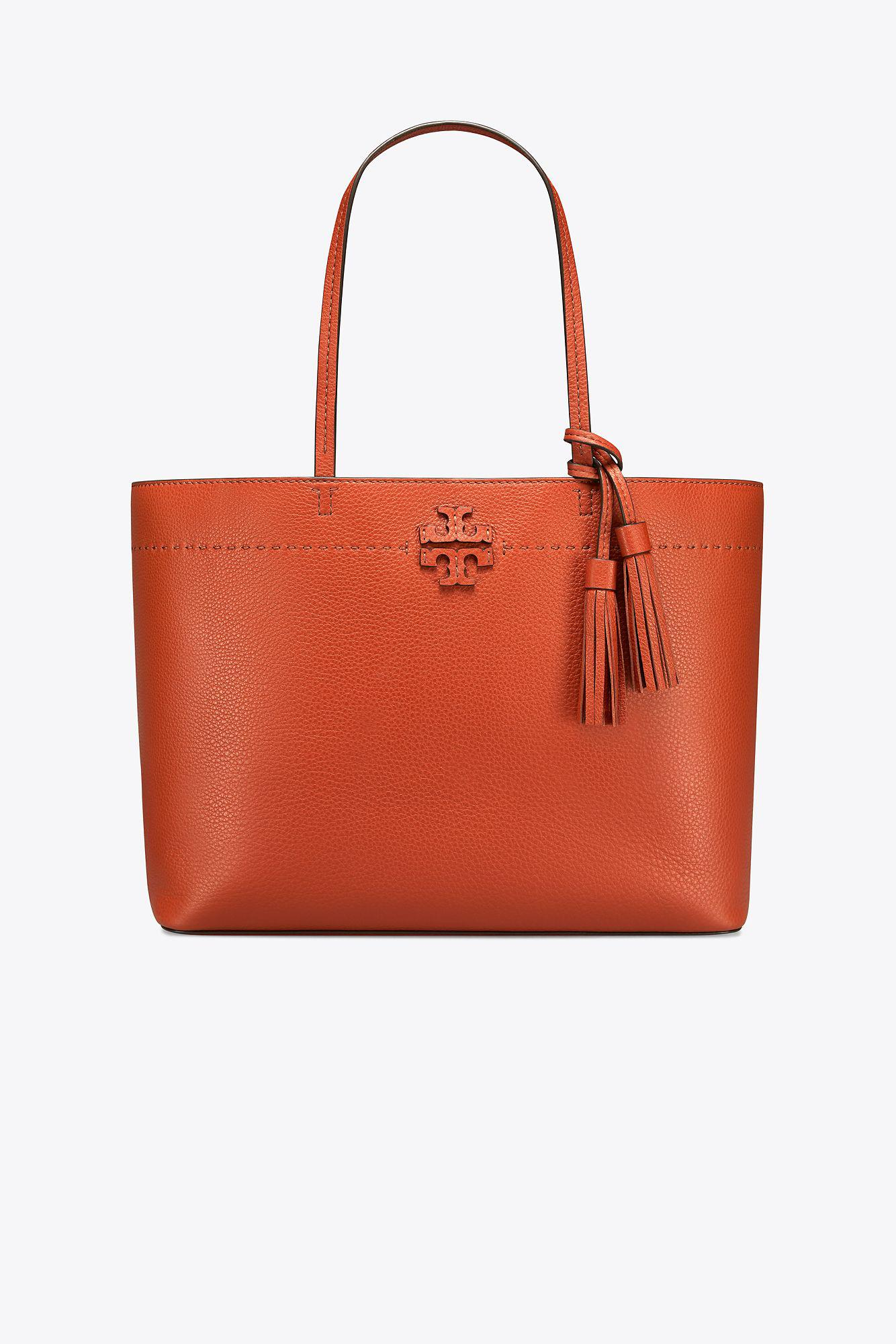 aaa5c32cd11e Tory Burch Mcgraw Tote in Red - Lyst