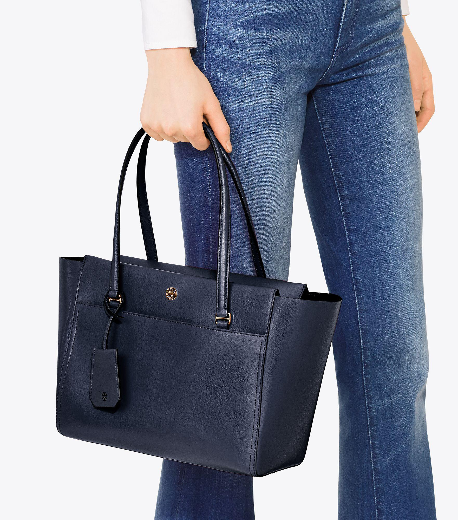 9d2e4d3b8bb3 Lyst - Tory Burch Parker Small Tote in Blue