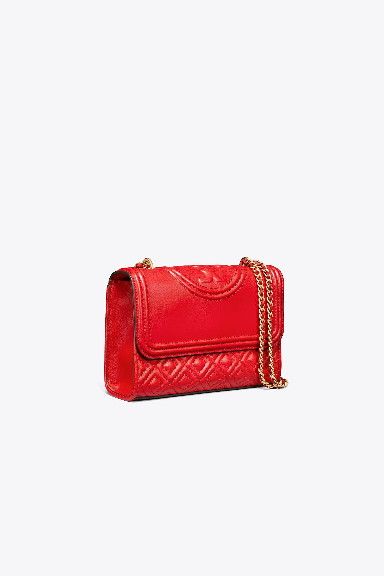 54866529680 Tory Burch - Red Fleming Small Convertible Shoulder Bag - Lyst. View  fullscreen