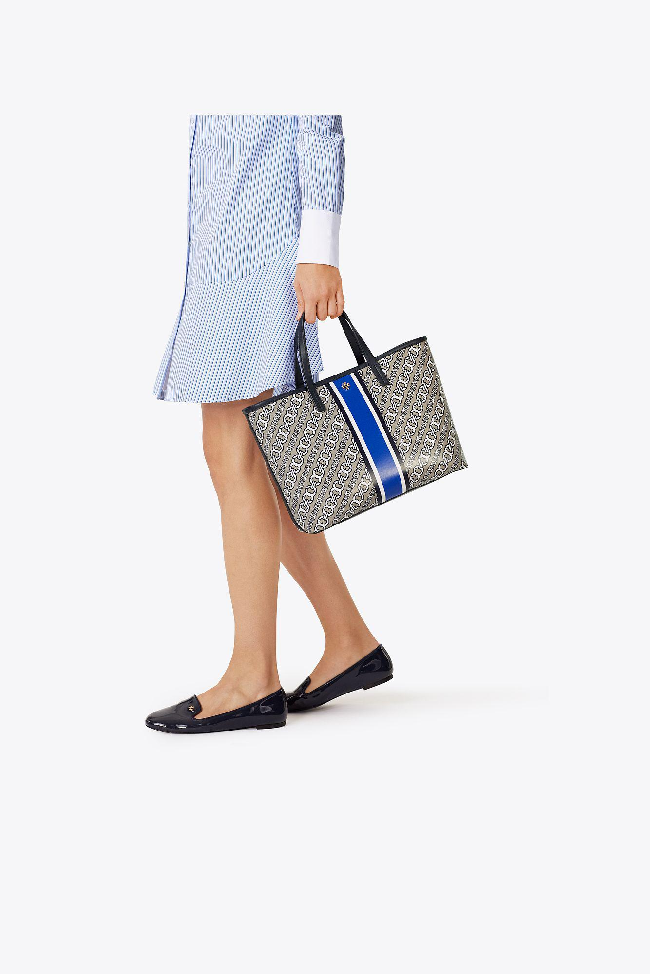 1507138cabfd Lyst - Tory Burch Gemini Link Small Tote