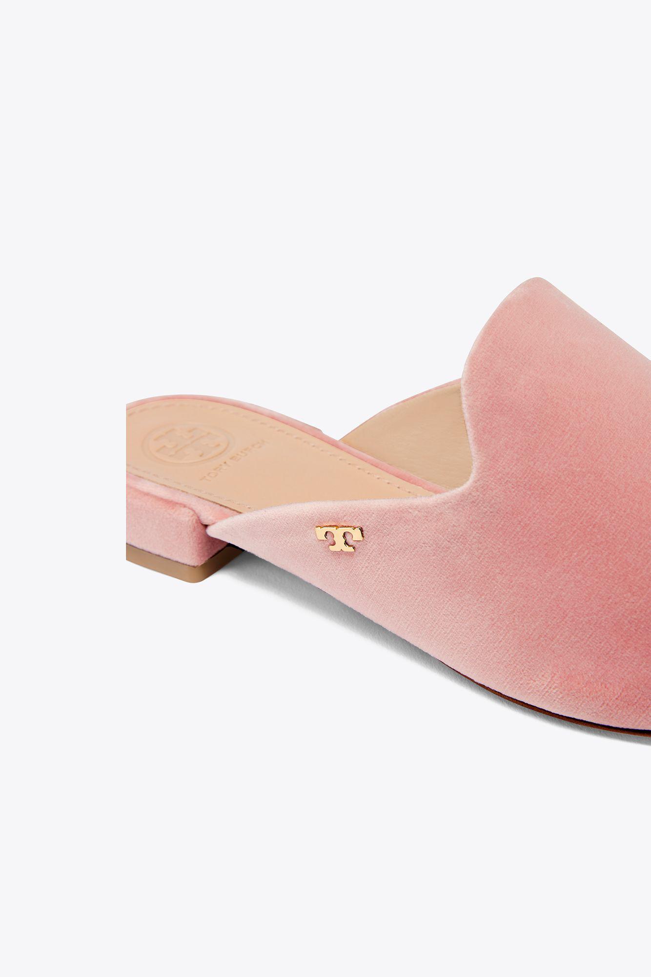7df052b3349d Lyst - Tory Burch Carlotta Velvet Slide in Pink