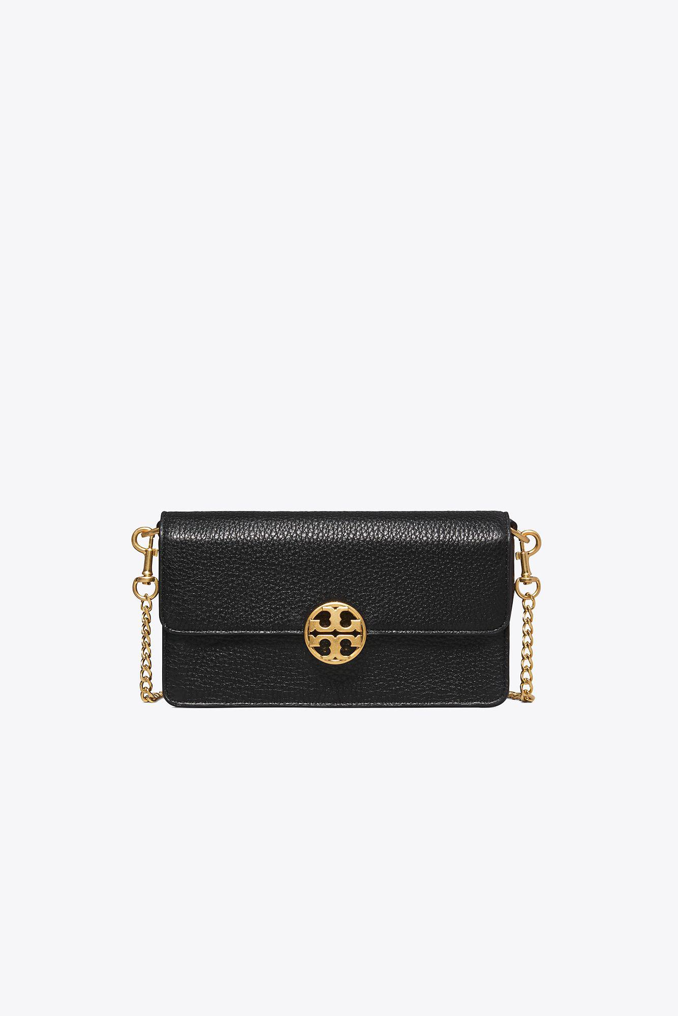 c2f6150303 Tory Burch Chelsea Chain Pouch in Black - Save 19% - Lyst