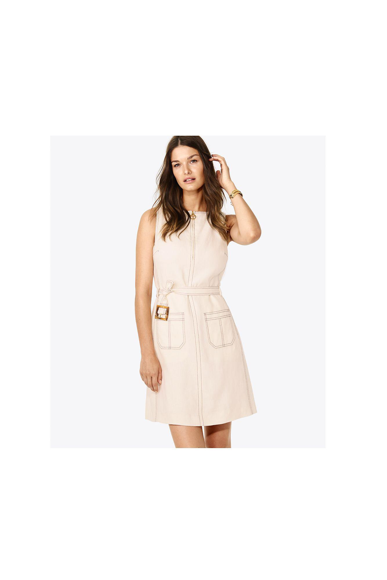860f8383a7d Lyst - Tory Burch Nadia Dress in White