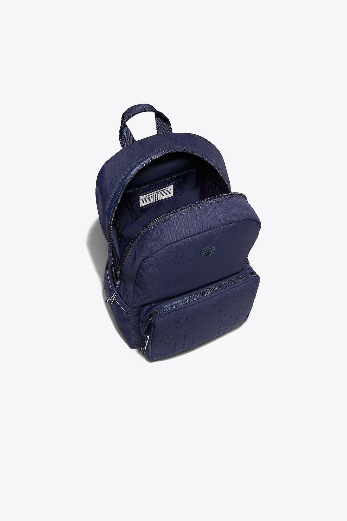 8b12aa9e92f Lyst - Tory Sport Tory Burch Perforated Backpack in Blue