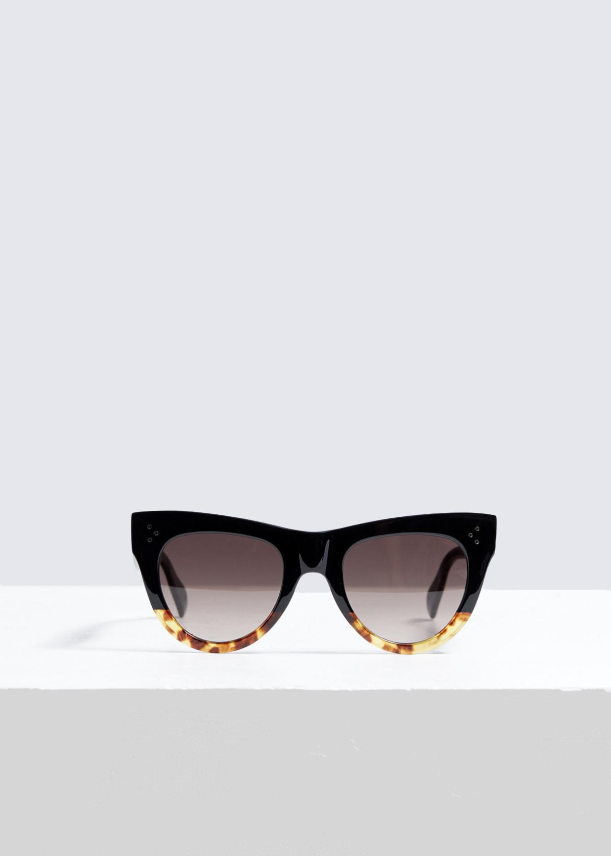 f7497e92d39b Céline Square Cat-eye Sunglasses in Black - Lyst