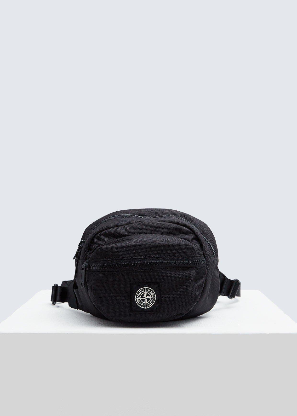 ed83aed298f9 Lyst - Stone Island Chest Bumbag in Black for Men