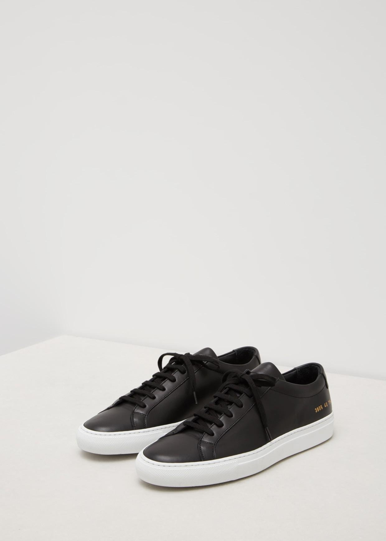 b5938a20fe496 Lyst - Common Projects Original Achilles Low White Sole in Black