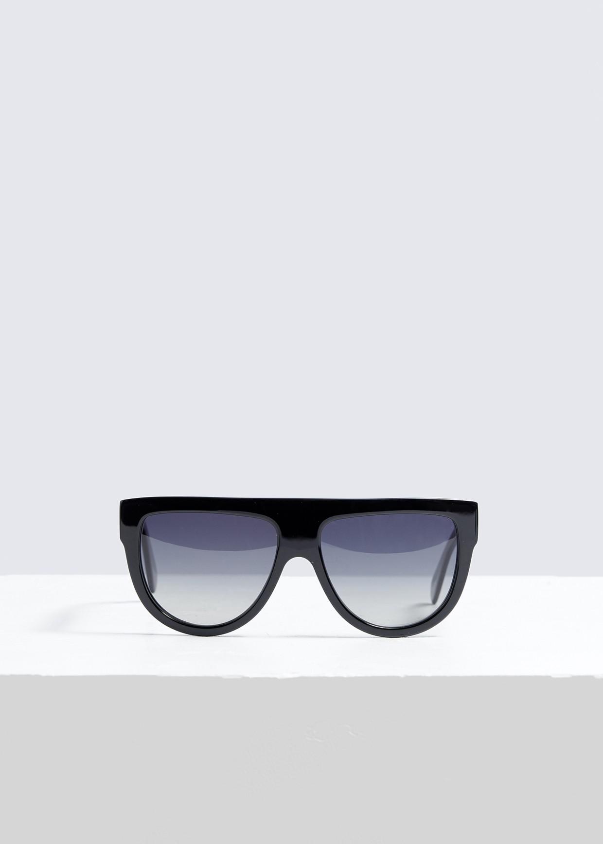 8819eef1ce7 Céline Square Aviator Sunglasses in Black - Lyst