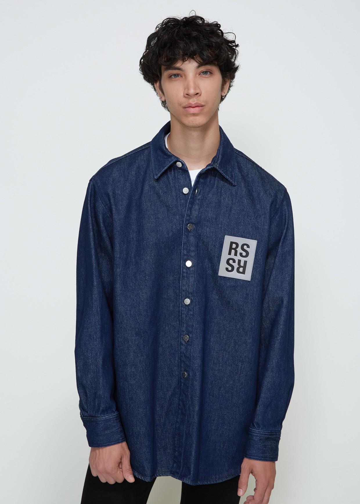 f4cbab4b01 Raf Simons - Blue Carryover Denim Shirt for Men - Lyst. View fullscreen