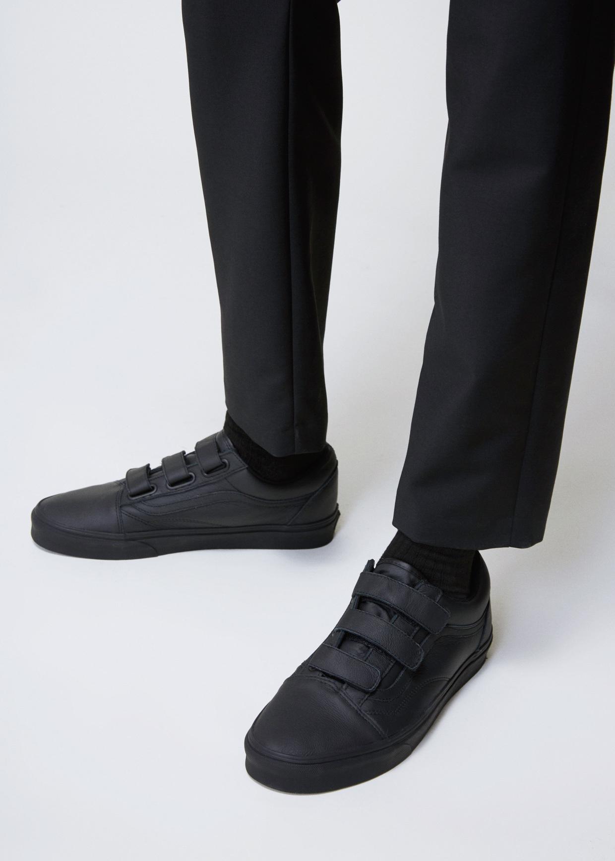 Lyst - Vans Mono Black Ua Old Skool V Sneaker in Black for Men 9fa405fea