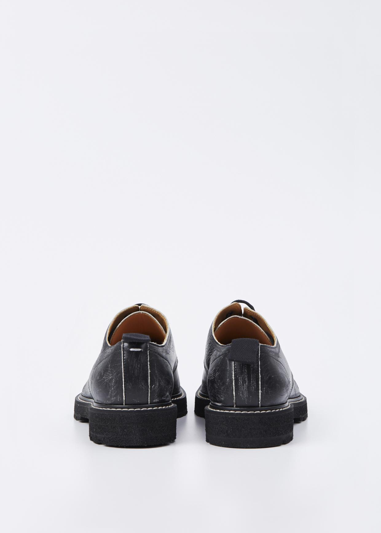 Lyst maison margiela black vintage treatment derby in for Maison de margiela
