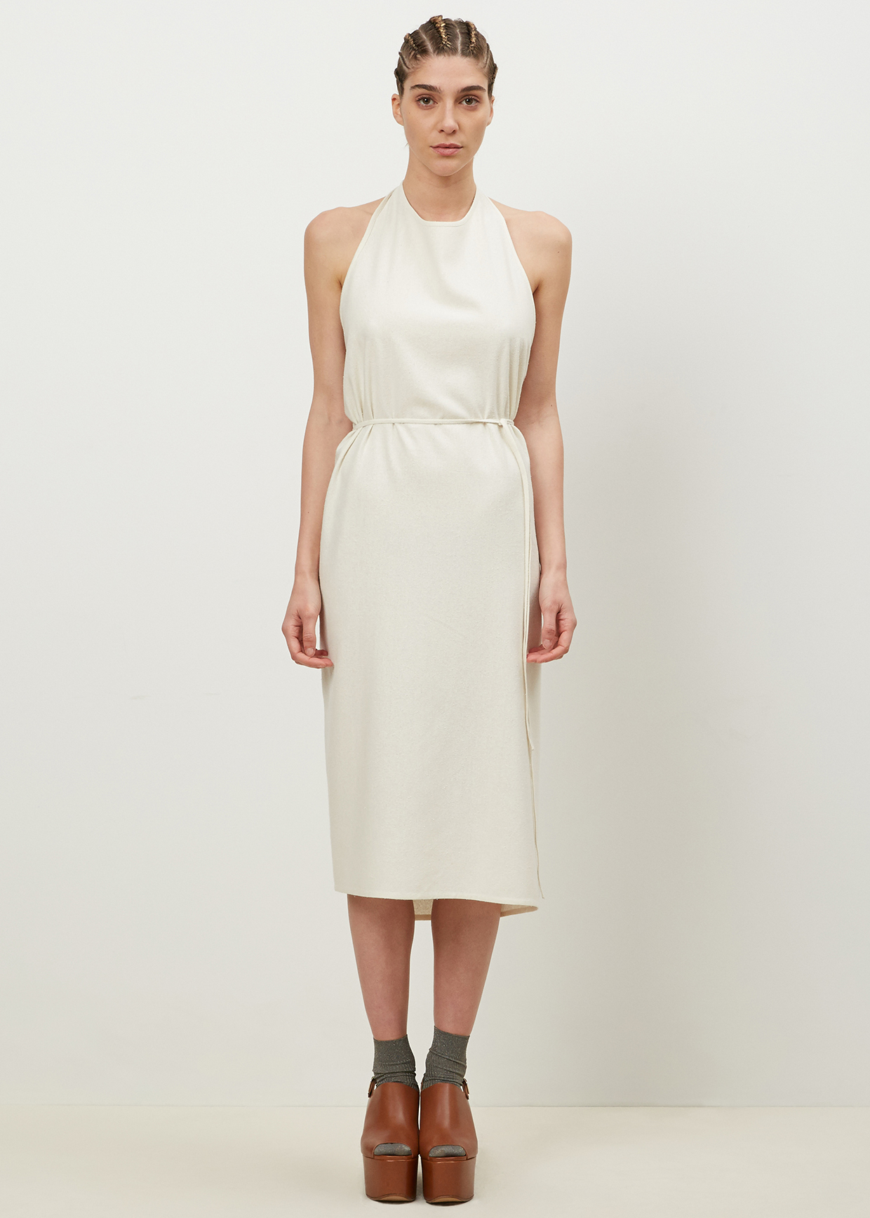 327fd1c3c48 Baserange Off White Apron Dress in White - Lyst