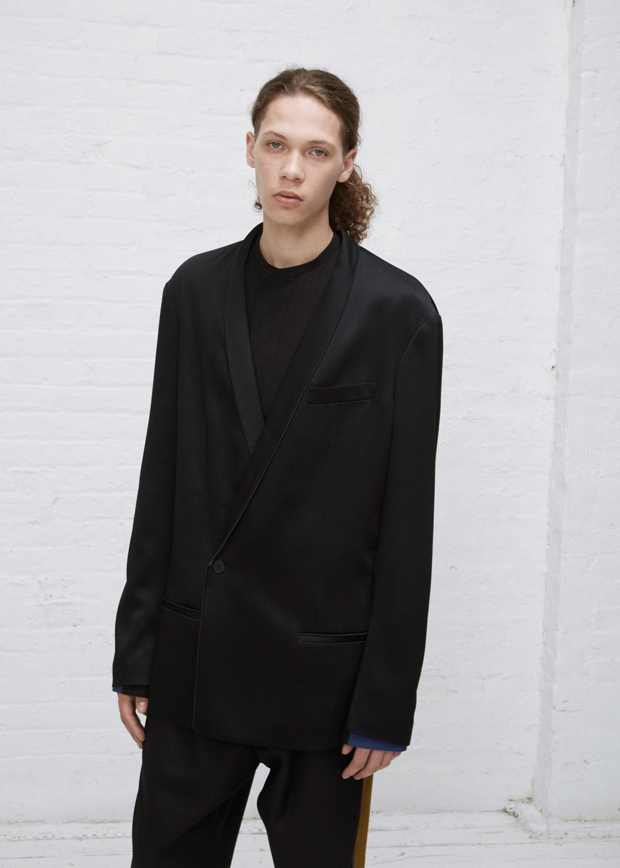 lyst haider ackermann black ivory oversized blazer in black for men. Black Bedroom Furniture Sets. Home Design Ideas