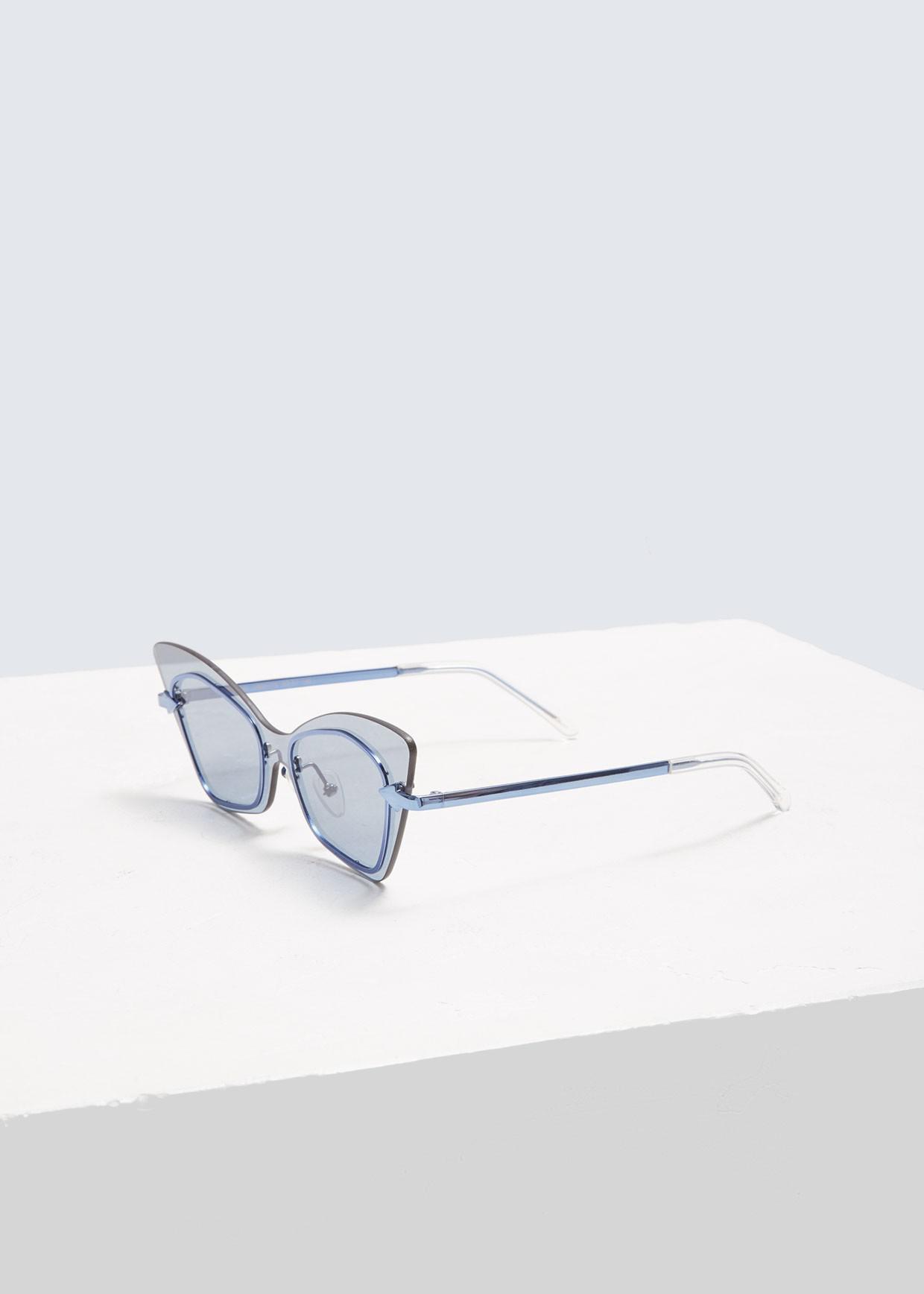 4afad7868bf Lyst - Karen Walker Mrs. Brill Sunglasses in Blue