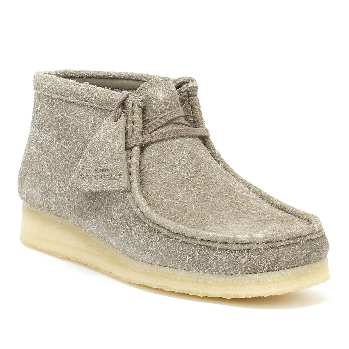 Lyst - Clarks Originals Womens Grey Interest Wallabee Boots in Gray 85a925e542