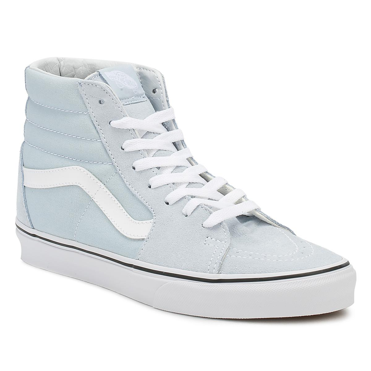 3dc6e9a1fa5 Vans Womens Baby Blue   True White Sk8-hi Trainers in Blue - Lyst