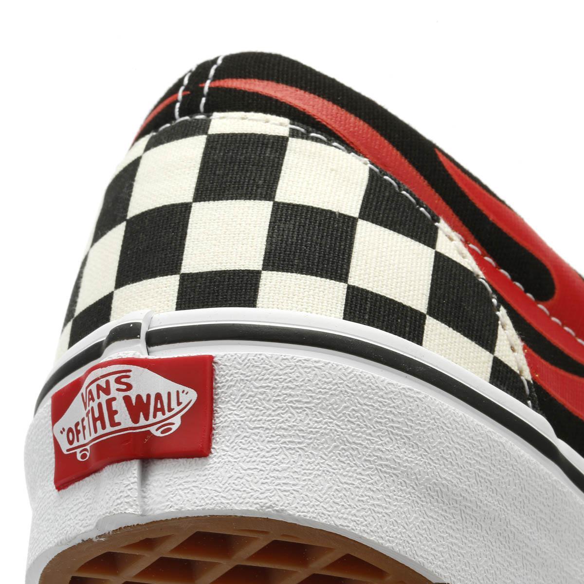 85e635e095aaa0 Lyst - Vans Disney Mickey   Minnie Checker Flame Slip On Trainers