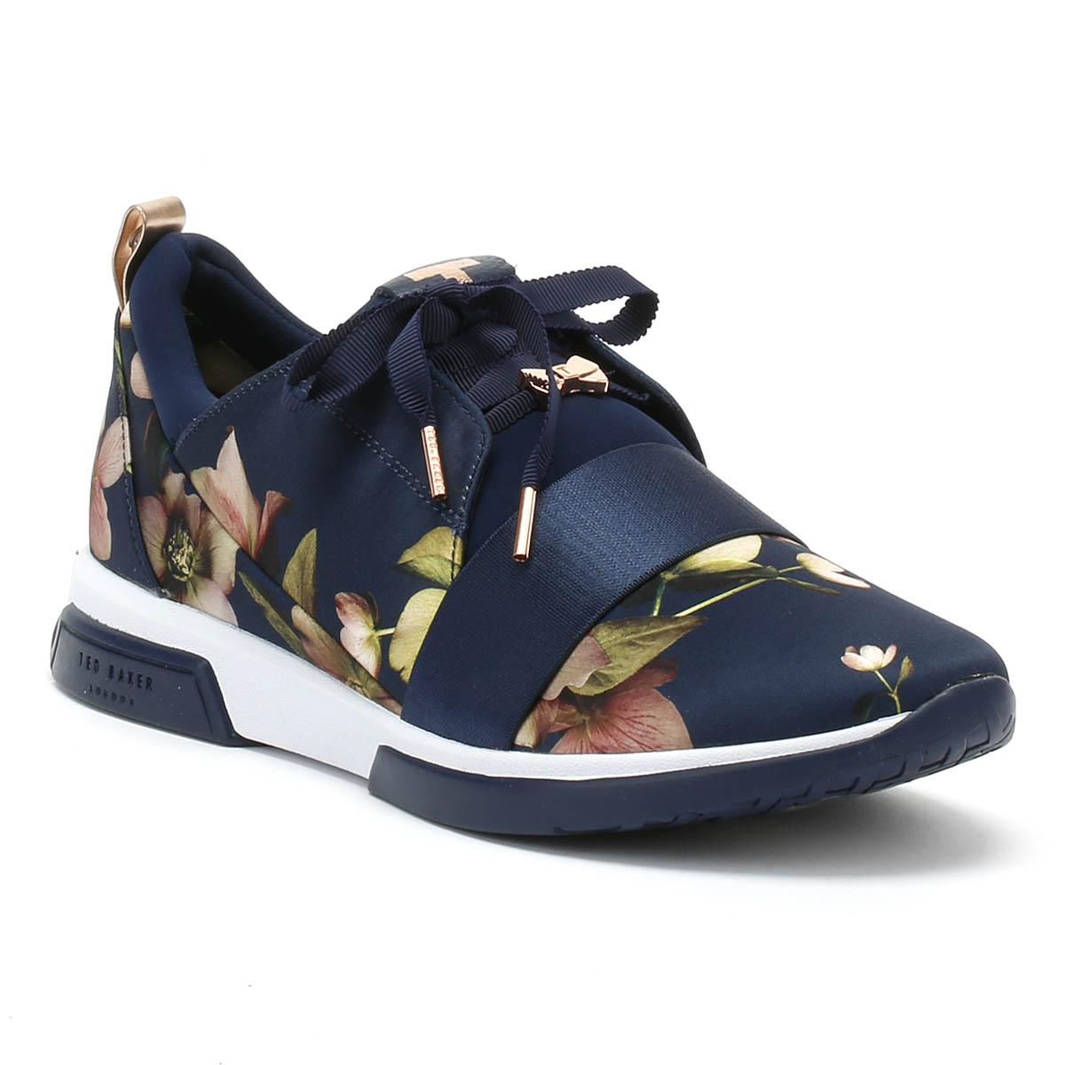 d3cba68e8787c7 Ted Baker Womens Arboretum Navy Cepap 2 Trainers in Blue - Lyst